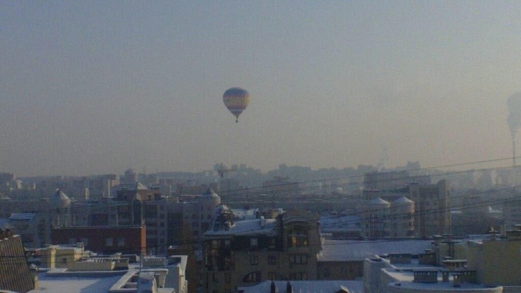 Воздушный шар над Уфой